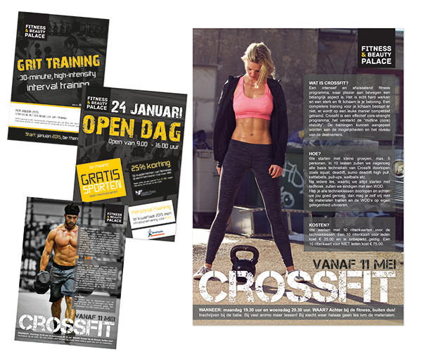 Poster ontwerp - flyer_fitnessbeautypalace